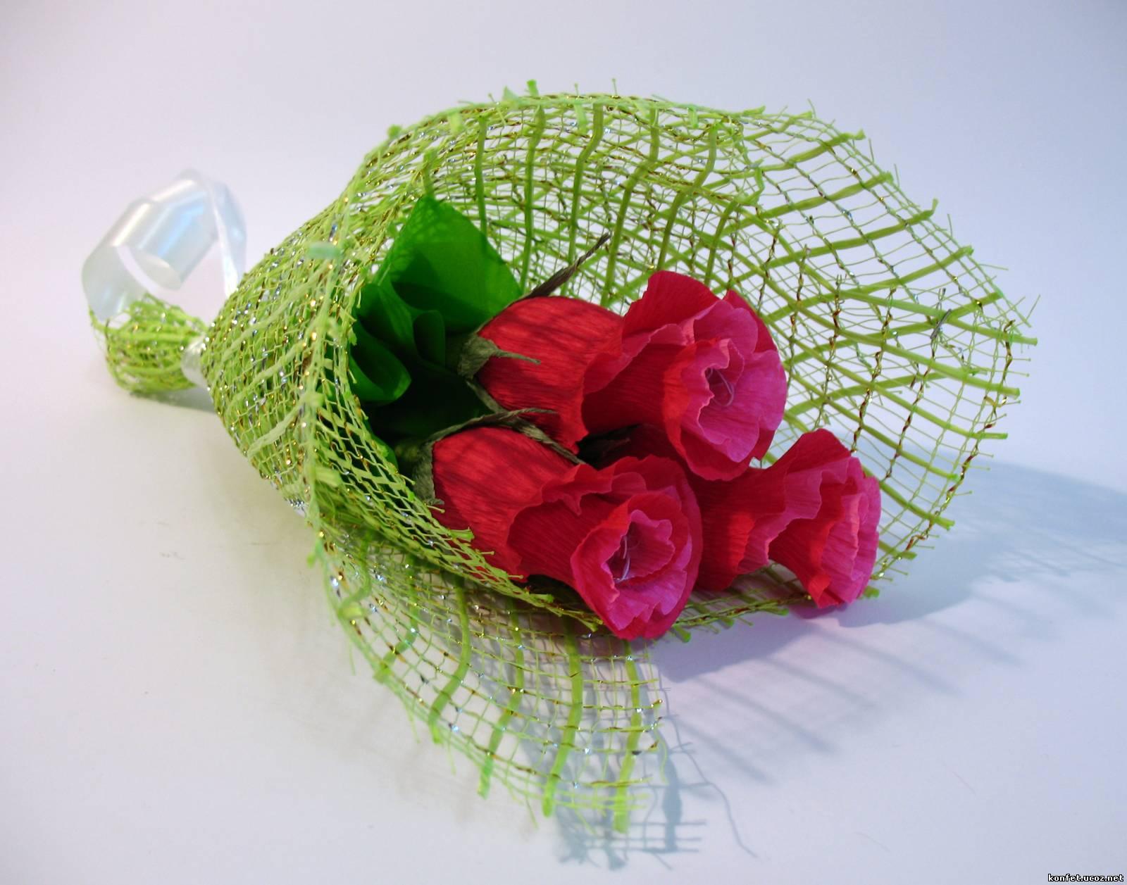 Как упаковать букет из роз пошаговое фото